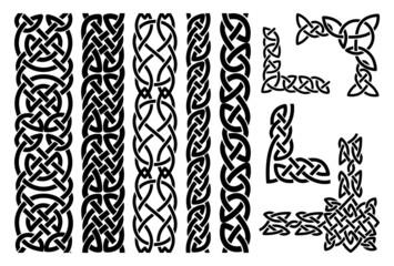 Celtic patterns and celtic ornament corners