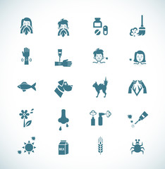 Allergies icons