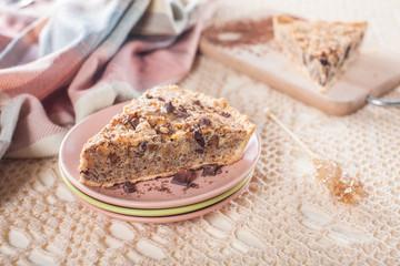 A piece of  walnuts cake