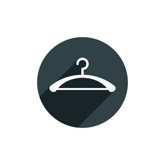 Hanger vector icon isolated.