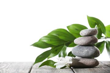 Still life of spa stones