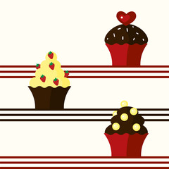 Background with cupcakes