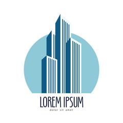 City vector logo design template. skyscrapers or construction