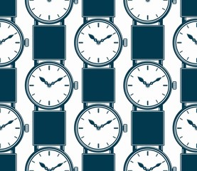 Seamless background with stylish wristwatches, elegant backdrop