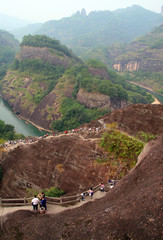 Scenic landscape of Wuyi Mountains, Fujian province, China