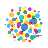 Fototapeta Bubble colorful frame for your design