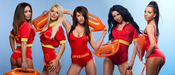 Five sexy lifeguards women