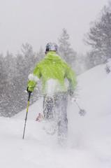 Rennen mit Schneeschuhen