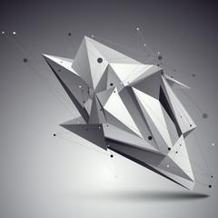 Spatial vector monochrome digital eps8 backdrop, dimensional tec