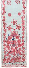 Ukrainian homespun towel embroidered