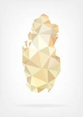 Low Poly map of Yemen