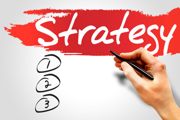 STRATEGY blank list, business concept