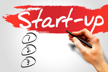 Start Up blank list, business concept