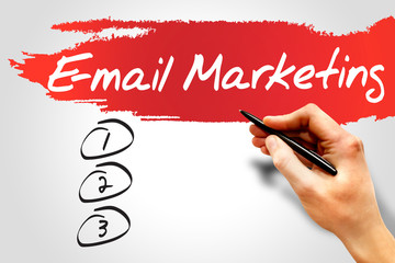 E-mail Marketing blank list, business concept