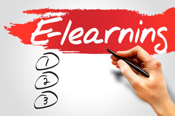 E-learning blank list, business concept