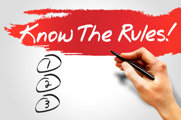 Know The Rules blank list, business concept