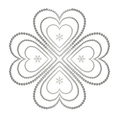 四葉のクローバのイラスト