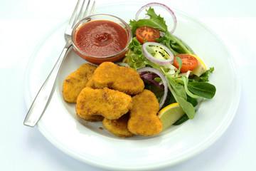 nuggets et salade