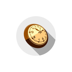 3d pocket watch, graphic illustration. Three-dimensional timer,