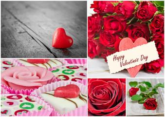 Collage Valentinstag
