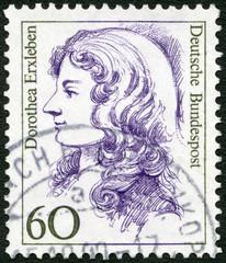 GERMANY - 1987: shows Dorothea Erxleben (1715-1762), physician