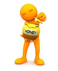 Orange Guy: Holding Honey Pot