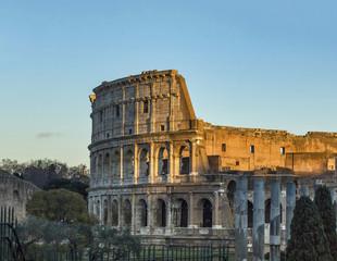 sunset  colosseum romantic rome