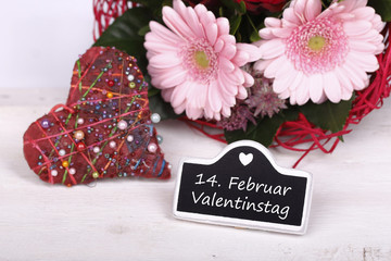 valentinstag - herz - blumen