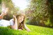 beauty on green grassland