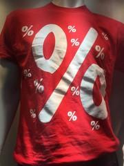 T-Shirt mit Prozentsymbol