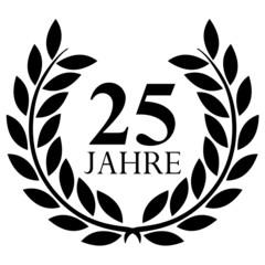 Lorbeerkranz. 25 jahre jubiläum