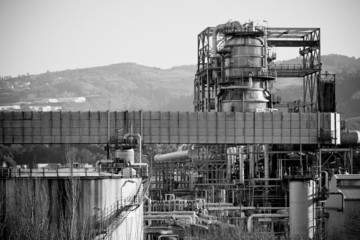 View of an Oil Refinery Plant
