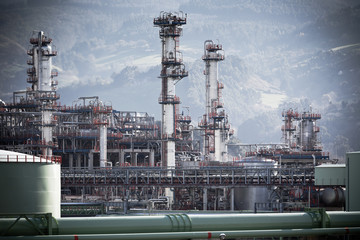 View of an Oil Refinery Plant.
