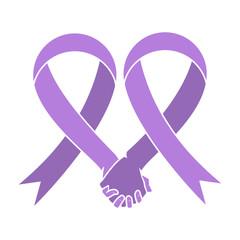 Cancer awareness ribbon, concept