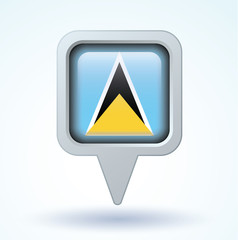 Flag of Saint Lucia, vector illustration