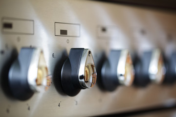 Commercial stove controls