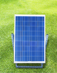solar cell in demonstration installed outdoor