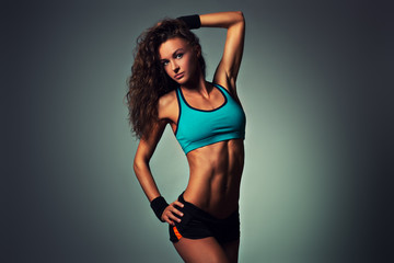 Young sports woman