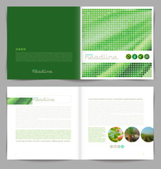 Template booklet design - cover and inside pages