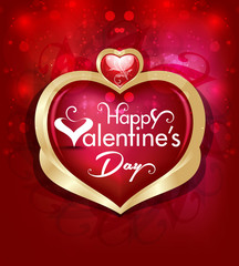 Vector valentine day  Background with Heart Illustration