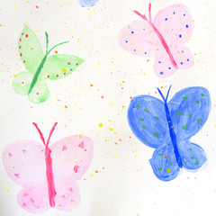 painted colorful butterflies