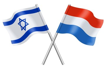 Flags: Israel and Luxembourg