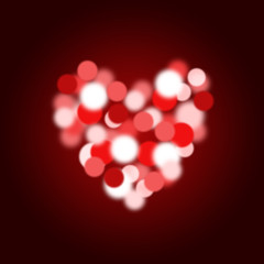 love heart bokeh