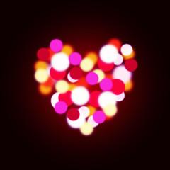 bokeh heart