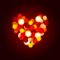 bokeh love heart