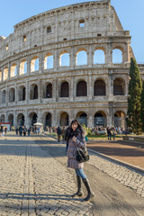 Girl and Coliseum