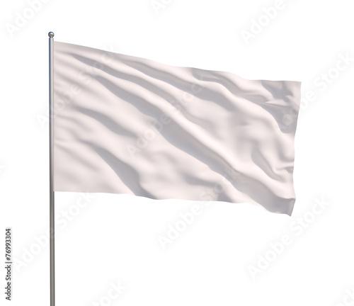 Leinwandbild Motiv Waving white flag