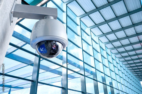 Security Camera, CCTV on location, airport - 76993341
