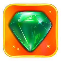 App game icon emerald