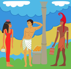 Ancient Egyptian-Greek market negotiations